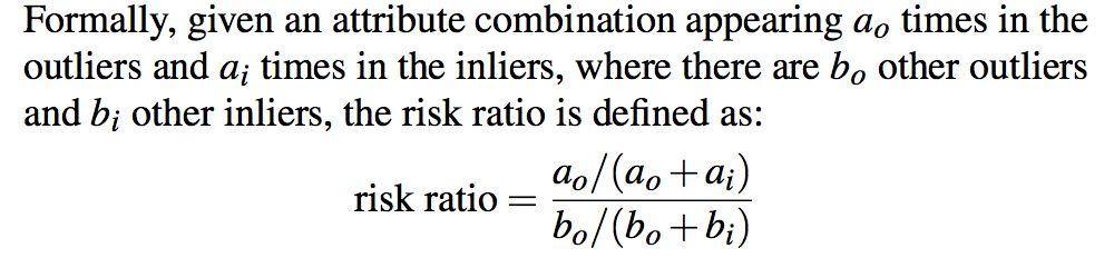 MacroBase中Risk Ratio的概念